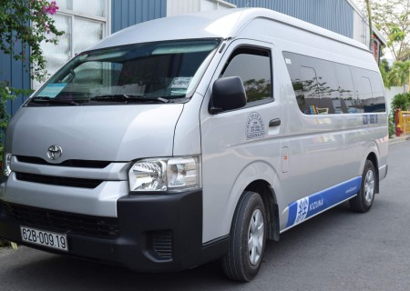 Shared shuttle service to local authority agencies (Tan An city, capital of Long An province)