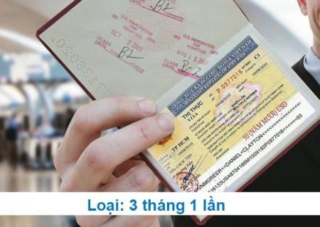 Công văn xin Visa thương mại (DN, LĐ, ĐT) Loại 03 tháng 01 lần (THỰC HIỆN)