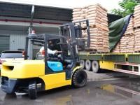 Cho thuê xe nâng 2,5 tấn và 3,5 tấn bao gồm lái xe và dầu máy