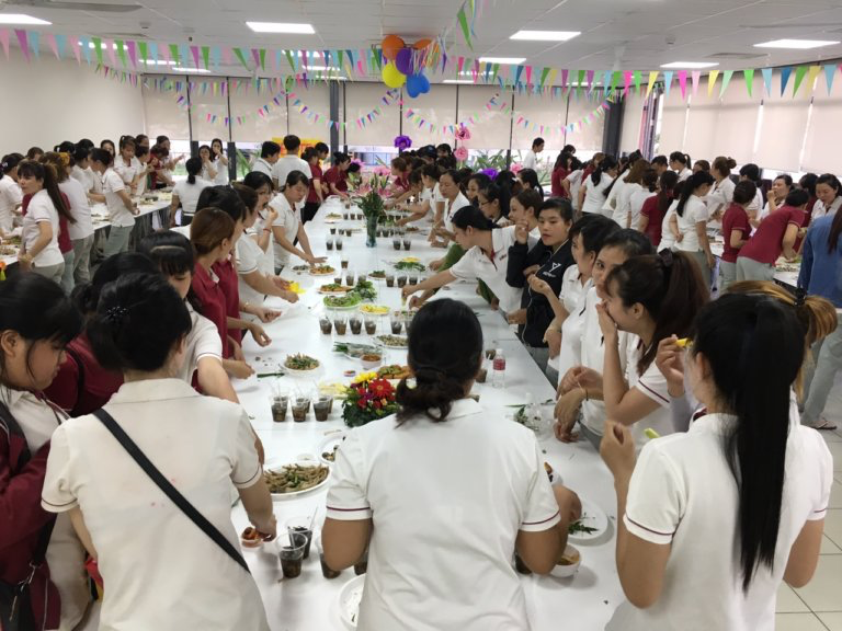 Party honoring women of Semitec Electronics Vietnam Co., Ltd