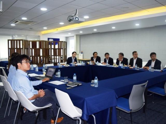 """""""Đoàn tham quan và khảo sát cơ sở hạ tầng kinh doanh tại ASEAN"""" từ Nhật Bản đã đến thăm Kizuna 2"""