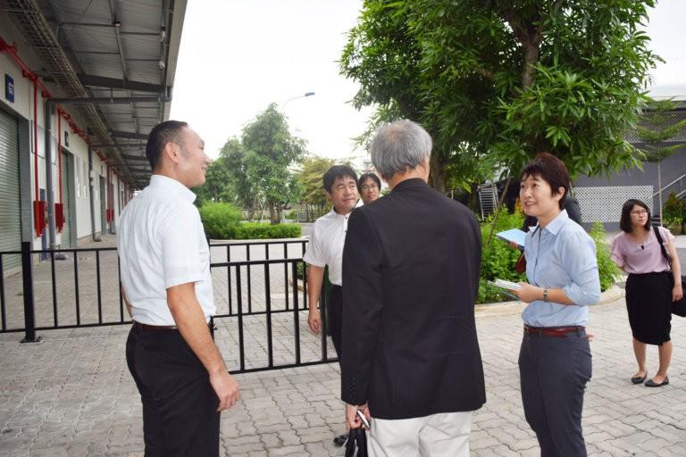 Đoàn tiền trạm của tỉnh Kanagawa đến tham quan Khu nhà xưởng dịch vụ Kizuna