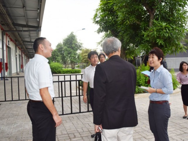 Kanagawa's advance visit to Kizuna Serviced Factory .