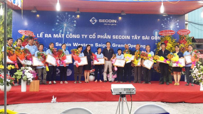 Lễ khai trương Công ty Cổ phần Secoin Tây Sài Gòn tại Khu nhà xưởng tiêu chuẩn ECO