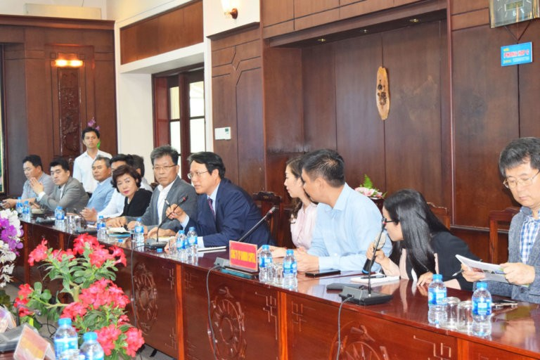 Korean business group explored the investment environment in Long An Province