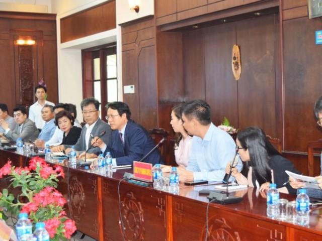 한국 기업 대표단 Long An 성 투자 환경 탐방