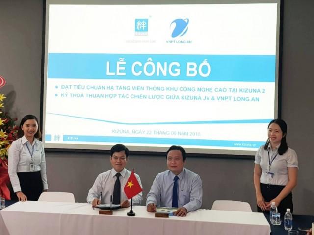 Strategic cooperation agreement signed between KIZUNA JV & VNPT Long An – Announcing that KIZUNA reaches the standard of High Tech Park's internet infrastructure