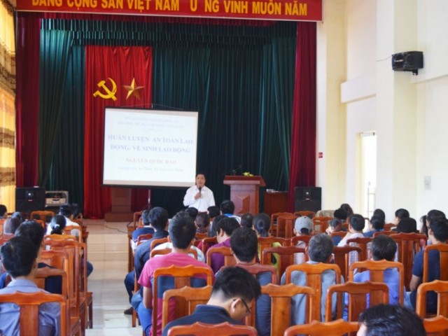 Occupational safety and hygiene training for employees in Kizuna Serviced Factory