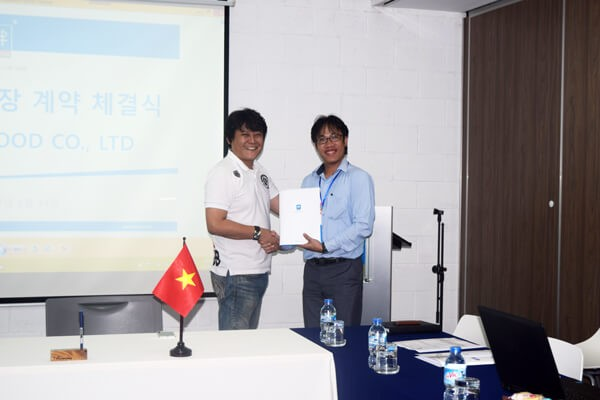 "Workshop lease contract signing ceremony of "" Woojung Food Co., Ltd """