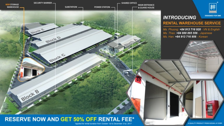 Expanding Production Scale's Opportunity in Kizuna 1 - Saving 50% Warehouse Rental - Limited time and quantity