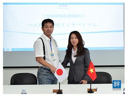 Lễ ký kết hợp đồng công ty Misoya Việt Nam