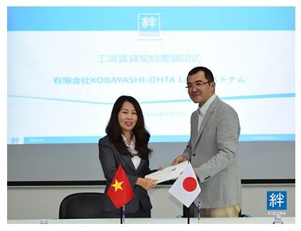 Lễ ký kết hợp đồng Công Ty TNHH Kobayashi-Ohta Label Việt Nam