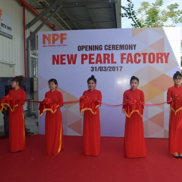 Opening Ceremony of New Pearl Factory (NPF) in Kizuna 2 Rental Serviced Factory