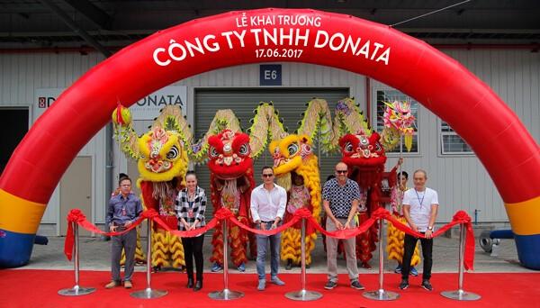 Chi nhánh Công ty TNHH Donata tại tỉnh Long An tổ chức lễ khánh thành tại Khu nhà xưởng dịch vụ Kizuna 2