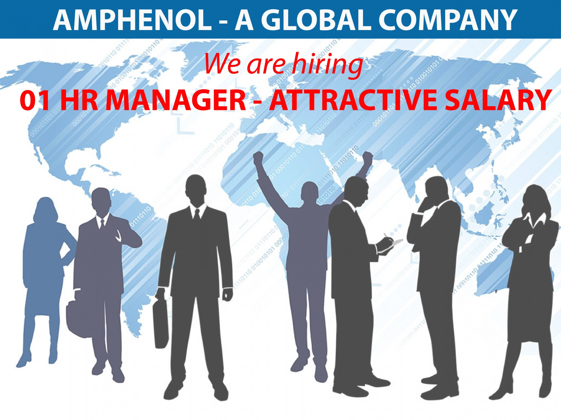 [AMPHENOL] 01 HR MANAGER – ATTRACTIVE SALARY & BENEFIT