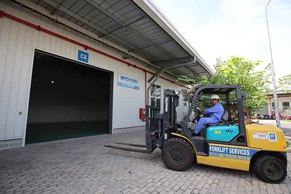 Kizuna의 구축된 공장으로 생산 향상