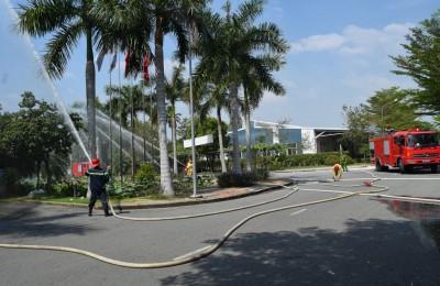 Diễn tập phòng cháy chữa cháy và cứu nạn, cứu hộ tại Khu nhà xưởng dịch vụ KIZUNA 1
