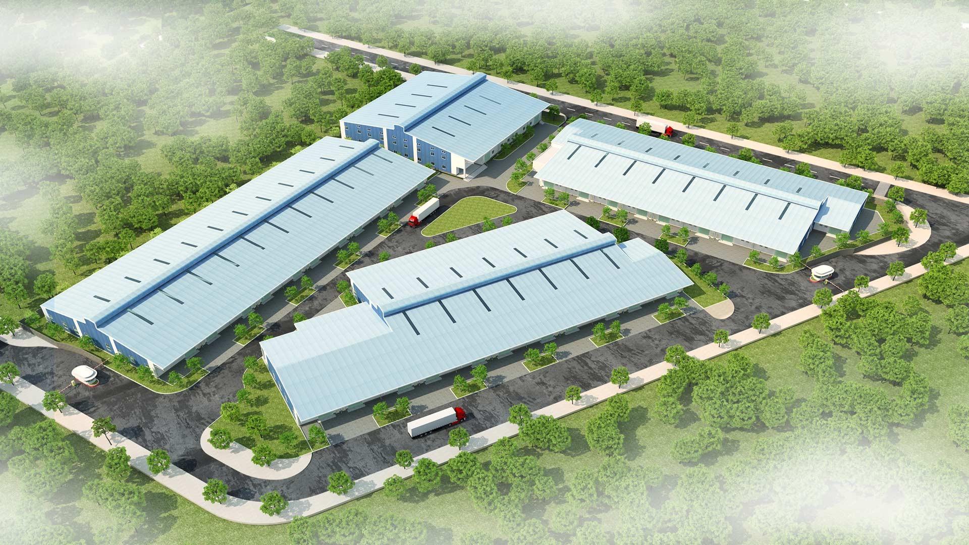 롱안 300m2의 공장