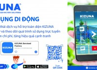 KIZUNA Mobile App helps the KIZUNA business community to register to use services online during the Covid-19 epidemic