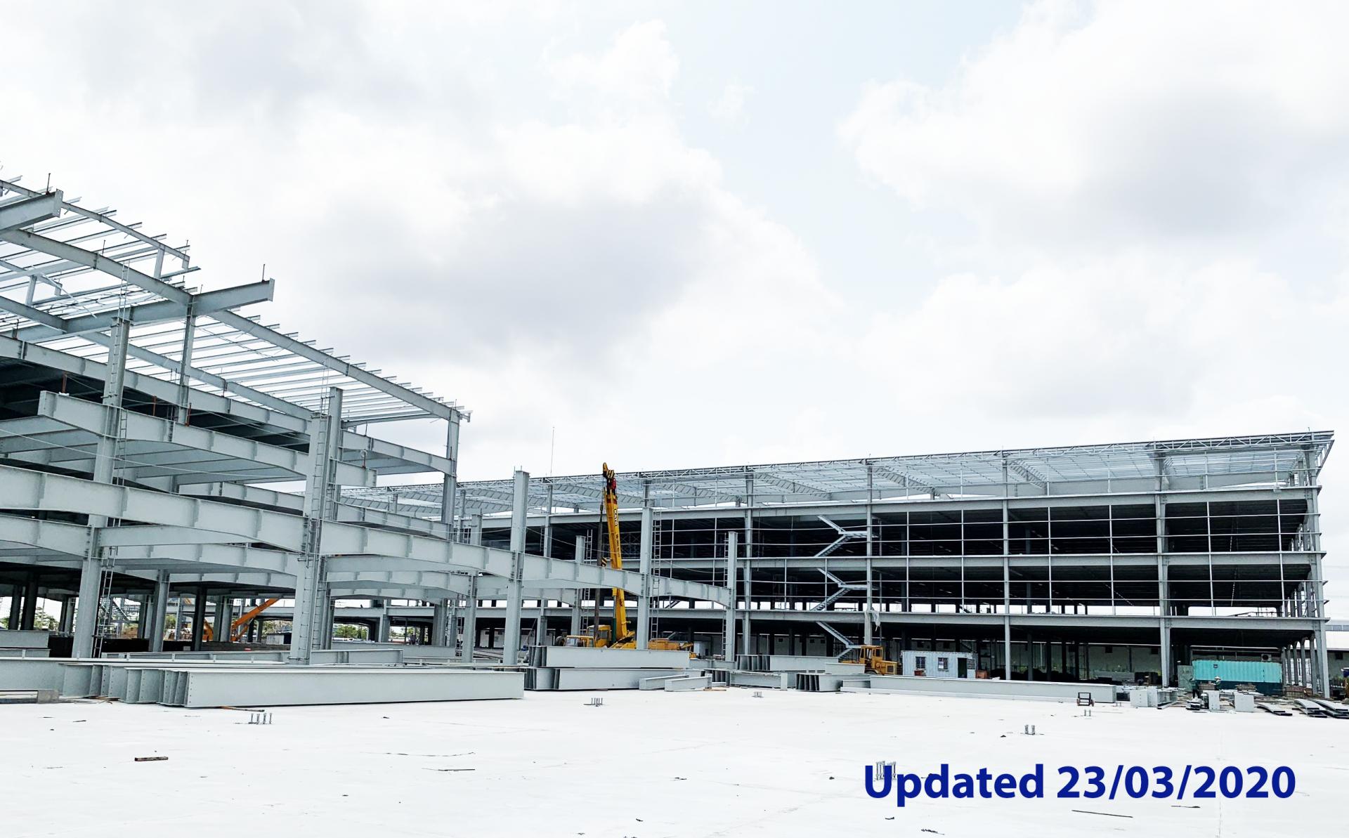 Dự án KIZUNA - Ready Serviced Space tại Khu nhà xưởng Dịch vụ KIZUNA 3 đang khẩn trương đầu tư xây dựng, đưa vào sử dụng trong quý 4/2020 để tiếp tục thu hút FDI vào Việt nam sau dịch Covid-19