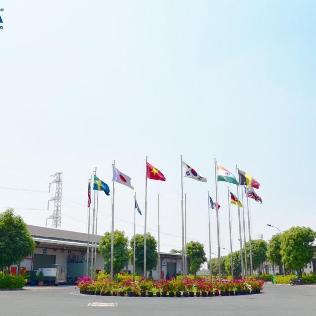 베트남 300m2의 공장 프로젝트는 Kizuna 산업 단지에서 개발되