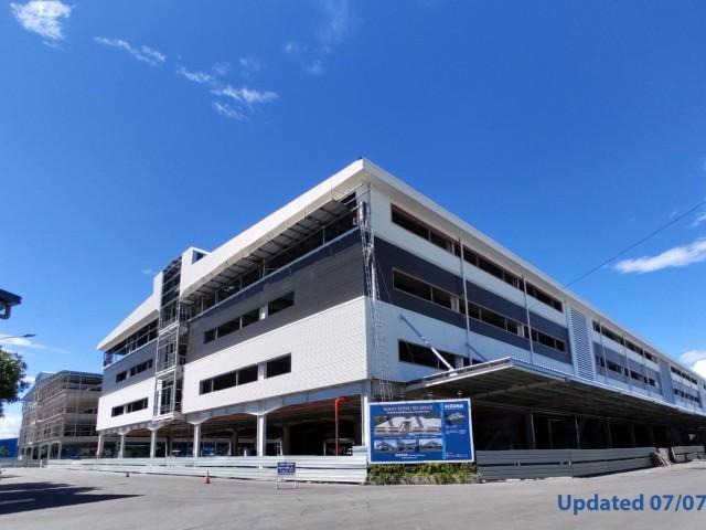 [건축 진행률 업데이트] 키즈나-기성 서비스 공간 - 4 층 공장 (블록 O & P) 곧 준공