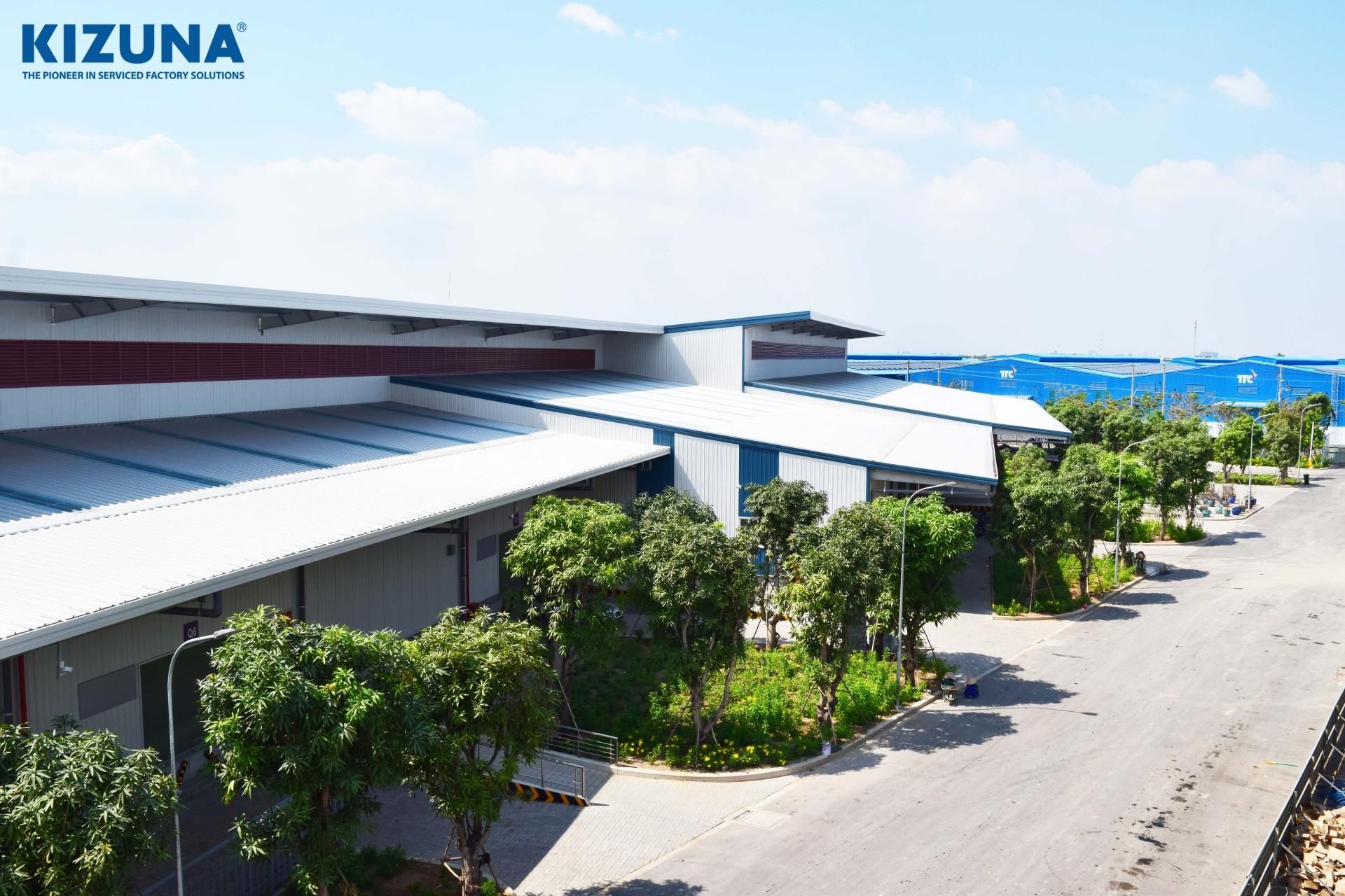 Kizuna cho thuê nhà xưởng chất lượng, có nhiều chính sách thu hút đầu tư và giá thuê nhiều ưu đãi